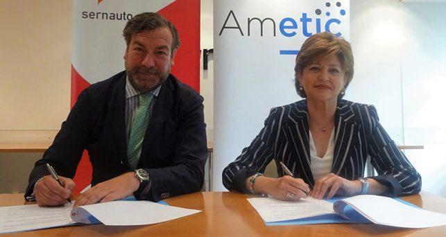 ametic-sernauto-firman-convenio-reforzar-la-colaboracion-sector-tic-automocion