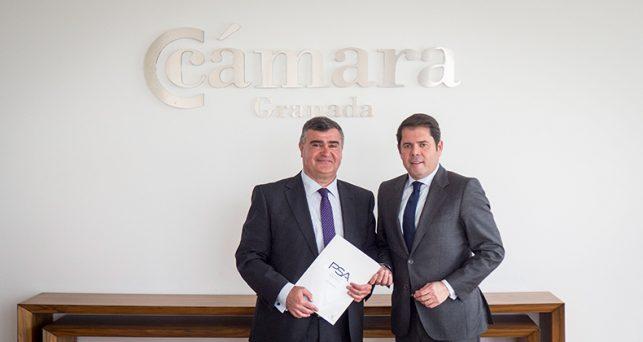 cge-camara-granada-firman-convenio-colaboracion-psa-retail