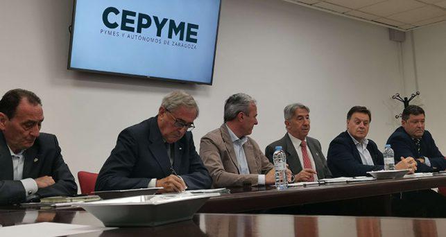 la-junta-directiva-cepyme-se-reune-alcalde-zaragoza