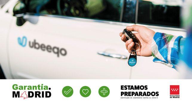ubeeqo-recibe-identificativo-garantia-madrid-comunidad-madrid-medidas-frente-covid19